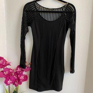 Vintage Shop Black Long Sleeve Dress